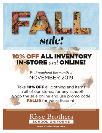 Risse Brothers Uniform Sale