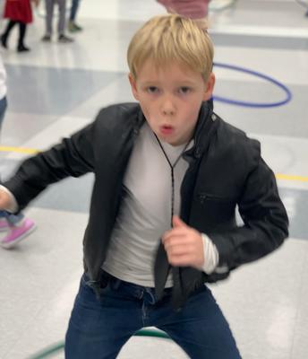 50's Day Celebration in Kindergarten! We Danced at a Sock Hop!