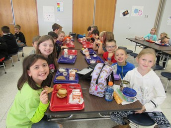 Lunch time at Burnside Elementary.  A great time to smile with friends.