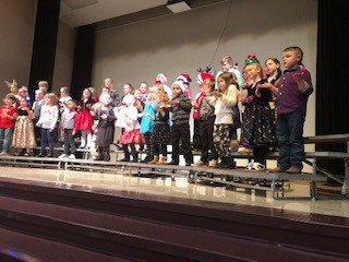 First graders singing their hearts out!