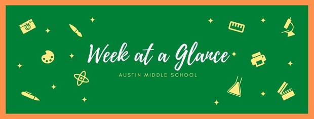 Week at a glance graphic