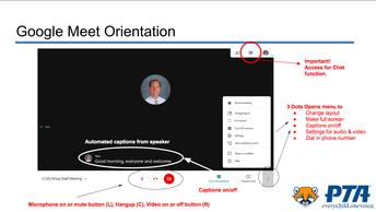 Google Meet Orientaition