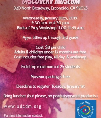San Diego Children's Discovery Museum Workshop 1/30/19