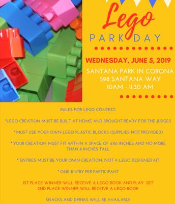 Inspire Lego Park Day CORONA