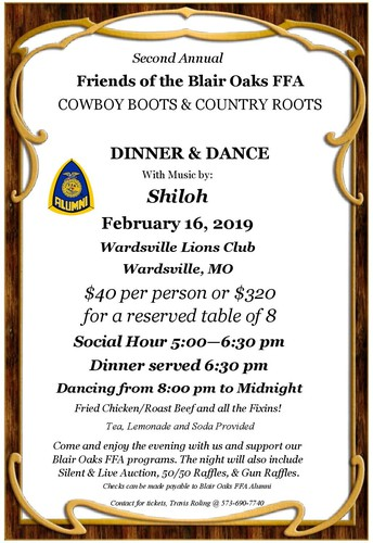2nd Annual Friends of FFA Dinner & Dance