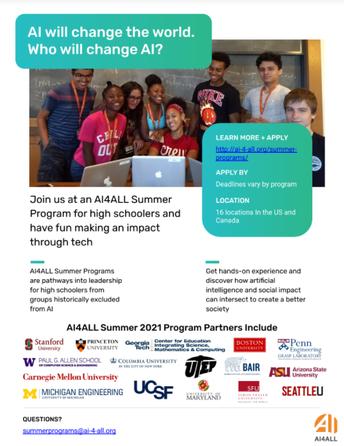 AI4All Summer Program