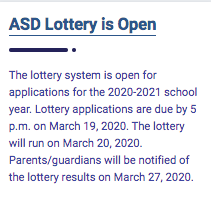 The 2020/2021 Lottery Is Now Open