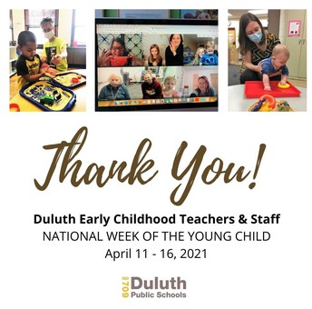 Thank You, Duluth Early Childhood Teachers & Staff!
