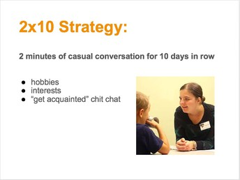2 x 10 strategy to build relationships with students