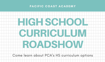 PCA High School Curriculum Roadshow Recording & Slides