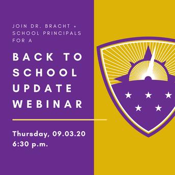 Back to School Update Webinar