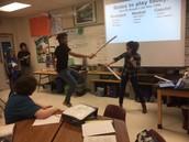 Sword fighting!