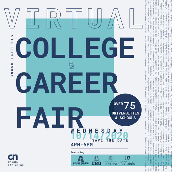 CLICK HERE to be directed to the Virtual College Fair Website