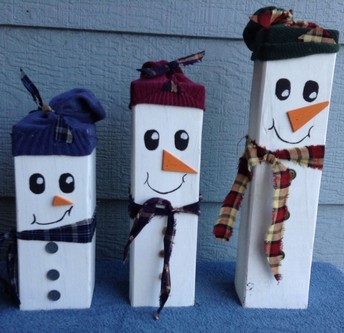 Friday 12/8 @ 1 pm- Wooden Snowman- Mrs. Nunn