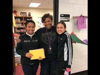 Fifth Grade Students with Ms. Whigham
