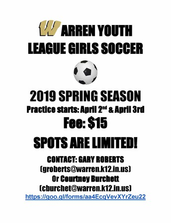 Warren Girls Youth Soccer League