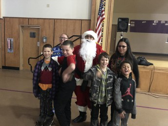 Mrs. Montenegro's Class and Santa after our ride on the Polar Express.