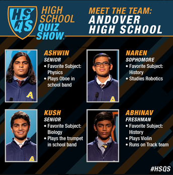 Cheer on our High School Quiz Show Team this Saturday night!