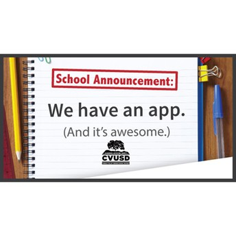 Be Connected: Download the CVUSD App