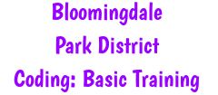 Coding: Basic Training - Offered by the Bloomingdale Park District