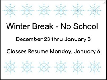 Winter Break Dates