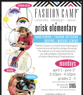 A New Session of Fashion Camp Starts April 1st!