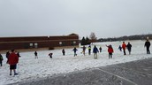 The snow has returned for winter recess