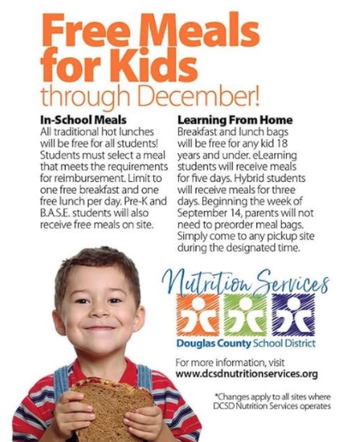 Free Meals for Kids through December!