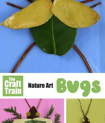 12. Create art bugs with pieces from the outdoors!