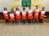 Fairness Award Recipients Grades K-2