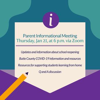 Parent/Guardian Information Meeting