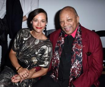Quincy Jones, Musical Genius, and his Daughter, Actress Rashida Jones (from The Office!)