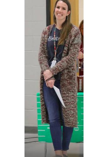 Congratulations to this year's Teacher of the Year, Mrs. Kayla Baker!