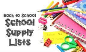 2019-2020 School Supply Lists