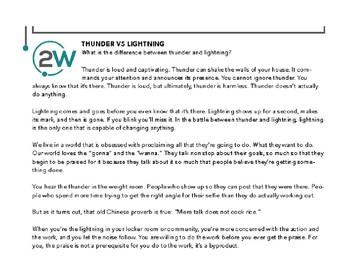 Thunder vs. Lightning