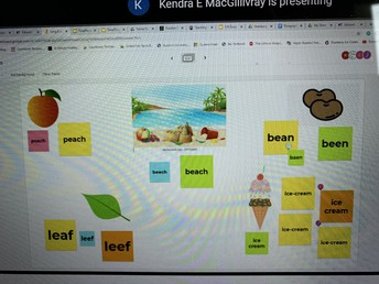 Using jamboard to work on 'ea' sound