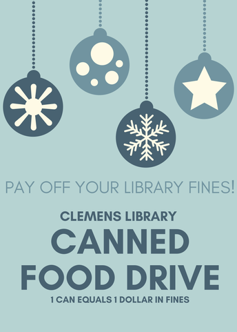 image for clemens library canned food drive