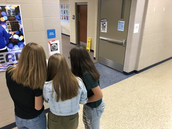 Cultural Geograhy students search for clues in school-wide scavenger hunt.