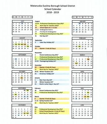 SCHOOL CALENDAR 2018/2019