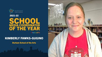 Congrats to our 2021-22 Media Coordinator of the Year Kimberly Fawks-Gugino