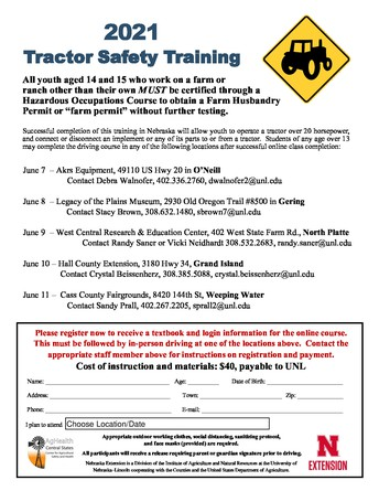 Youth Tractor Safety Courses
