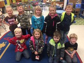 Kindergarten students with perfect attendance for October!