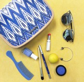 BEAUTY BAG - INDIGO IKAT (reg $36) SALE $13.50