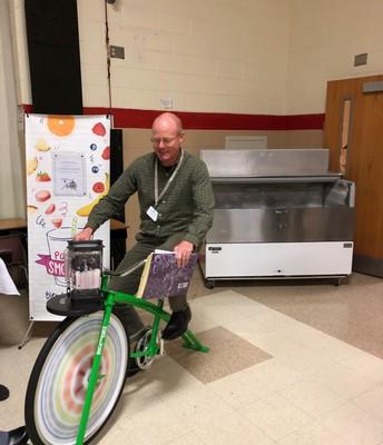 Mr. Brennan Biking for Smoothies