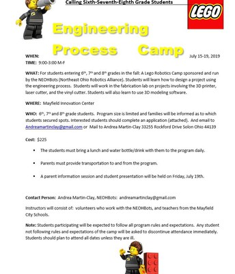 Engineering Process Camp Flyer