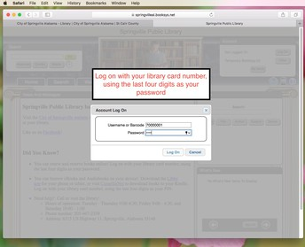 Log on With Your Library Card Number to Login