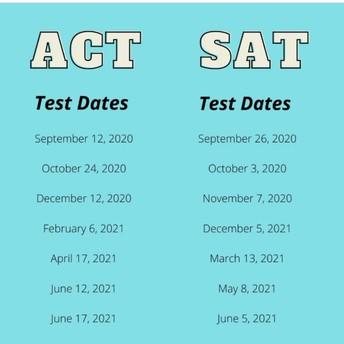 ACT/SAT Test Dates