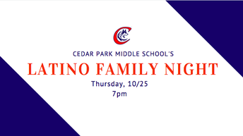 Latino Family Night THIS Thursday, 10/25