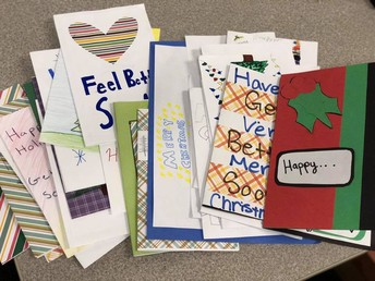 Cards Sent to Levine Children's Hospital