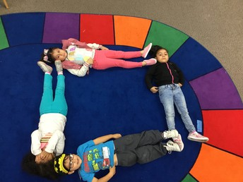 We can make a square with our bodies!